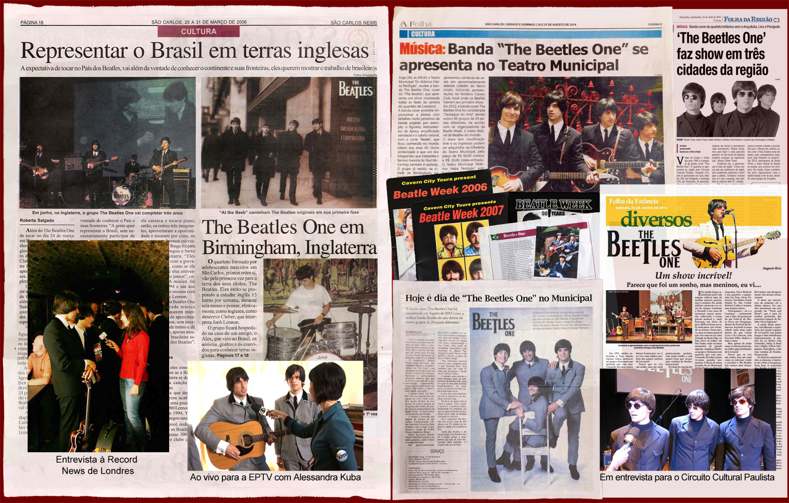 The Beatles Cover - The Beetles One - Imprensa